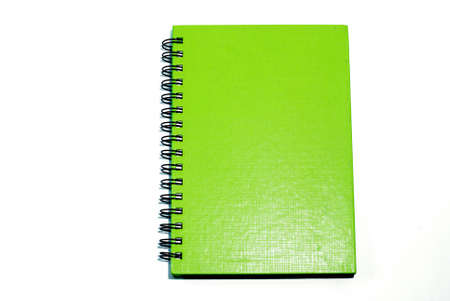 The Green cover of Note book  photo