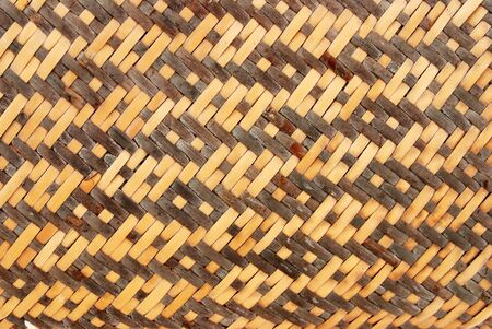 Basket Weave Wood Stock Photo