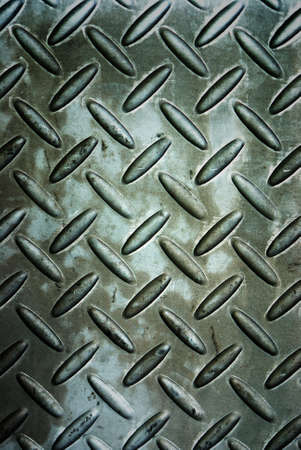 Background of metal diamond plate in silver color Stock Photo - 9304292