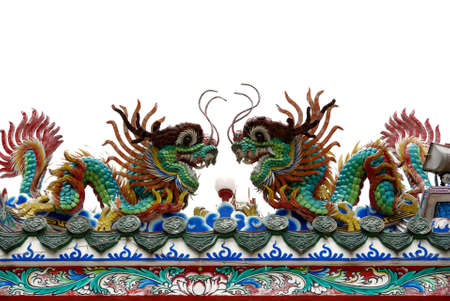 Typical Asian Chinese temple roof architecture Stock Photo