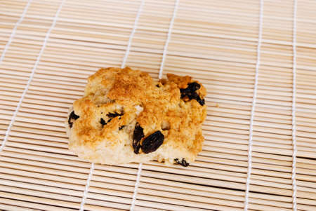 Fruit scones currants  on a wooden