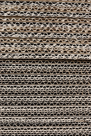 Texture  stacked of industrial cardboard