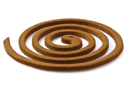 mosquito coil isolated on a white background photo