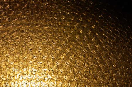 Glass bottle lamp transparent artificial Stock Photo