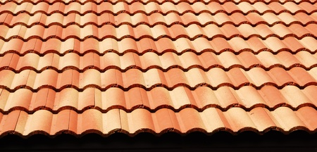 Red tiles roof, architecture background