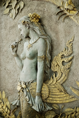 cola mujer: La imagen de arte de la mitad p�jaro mitad mujer