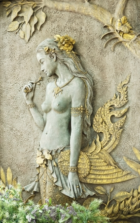 The art image of half-bird half-woman Stock Photo