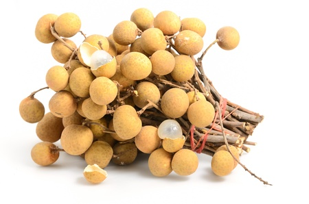 The longan fruit on white background