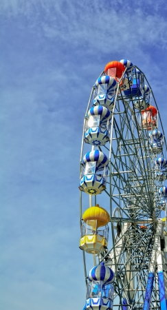 Colorful Ferris Wheel  in Thailand Stock Photo