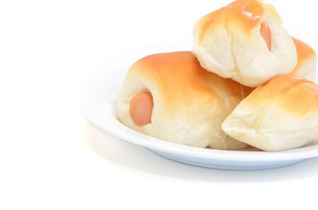 Sausage dough isolated on white background