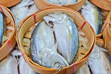 Fresh mackerel in basket in market, Thailand Stock Photo - 15657011