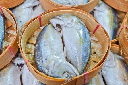 Fresh mackerel in basket in market, Thailand Stock Photo - 15657011
