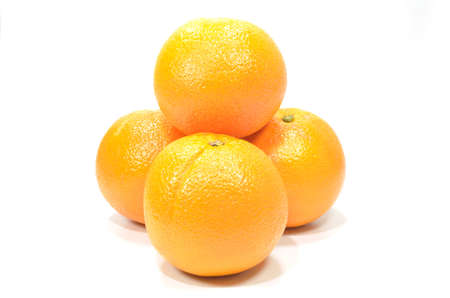 orange isolated on a white background Stock Photo - 16657076