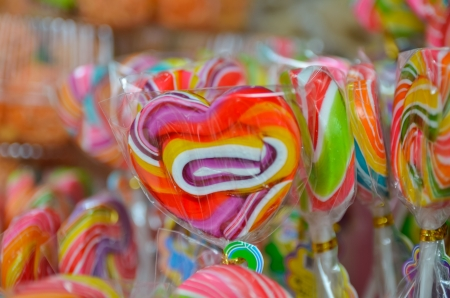 Colorful sweet lollipop candy Stock Photo - 16714714