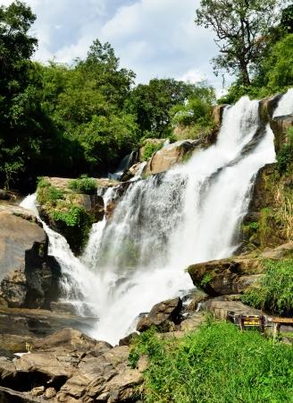 Mae Klang waterfall, Doi Inthanon national park, Chiang Mai in Thailand Stock Photo - 16899125