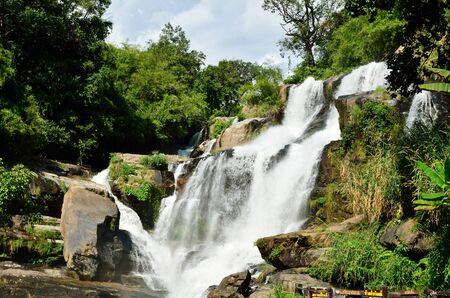 Mae Klang waterfall, Doi Inthanon national park, Chiang Mai in Thailand Stock Photo - 16899126