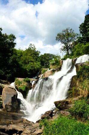 Mae Klang waterfall, Doi Inthanon national park, Chiang Mai in Thailand Stock Photo - 16899118