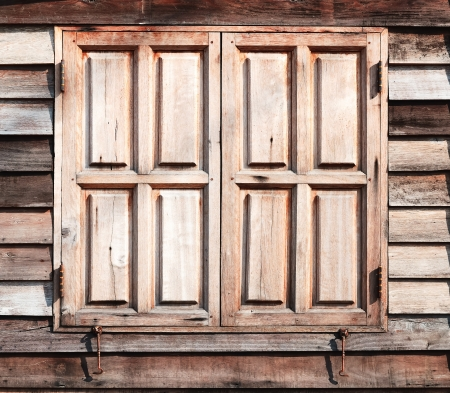 Old wooden window closed texture at background Stock Photo - 18233790