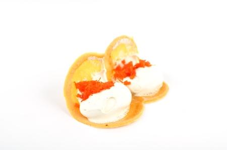 Two crispy crepes in Thai style pancakes Stock Photo - 20438629