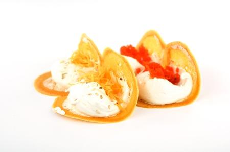 Thai snack crispy pancakes in Thai style Stock Photo - 20438642