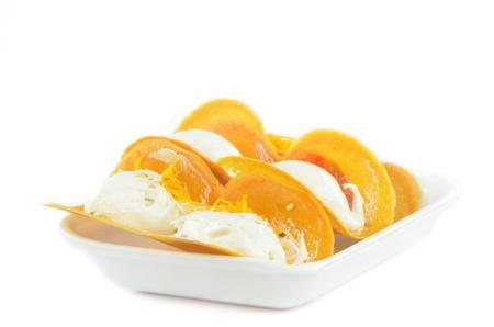 Thai snack crispy pancakes in Thai style Stock Photo - 20438634