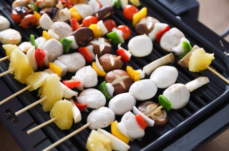 BBQ grilled meatballs on the grill Stock Photo - 21896603