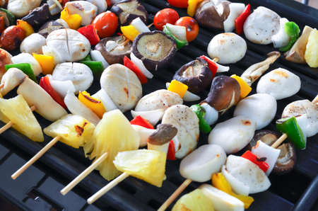 BBQ grilled meatballs on the grill Stock Photo - 21896604