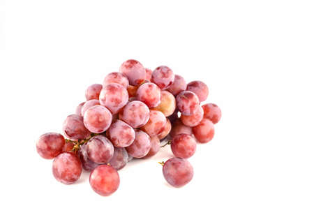 Bunch red grapes isolated on white  Stock Photo - 21896613