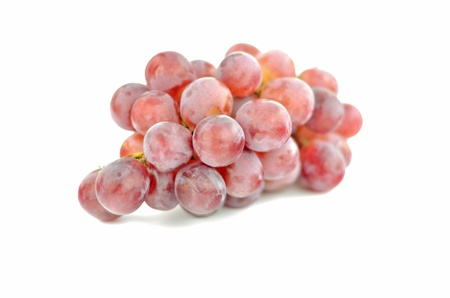 Bunch red grapes isolated on white  Stock Photo
