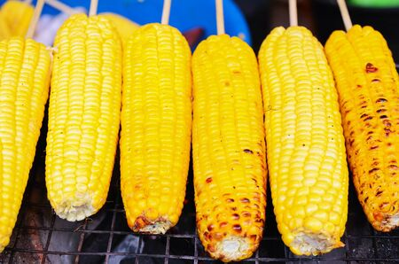 Grilled Corn Barbecued Stock Photo - 21896618