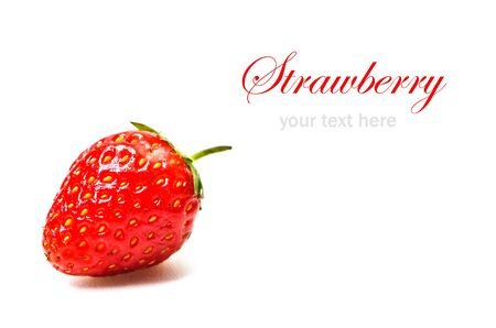 Fresh strawberry isolated on white background Stock Photo - 23188035
