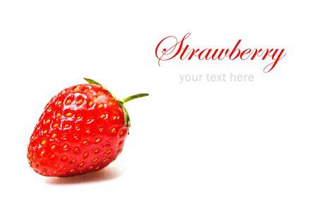Fresh strawberry isolated on white background Stock Photo - 23188035