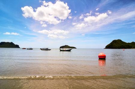 Orange buoy in the sea Stock Photo - 24055251