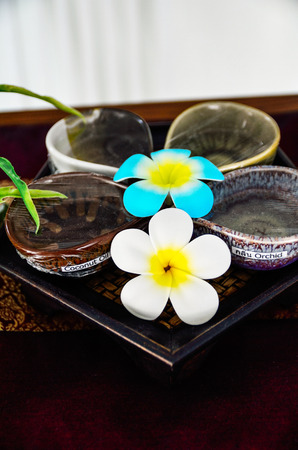 Plumeria flower for tropical spa concept essential oil photo