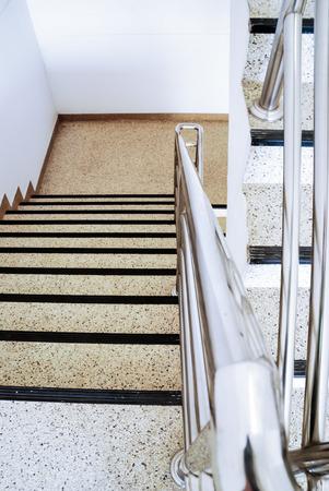modern staircase in building corridor