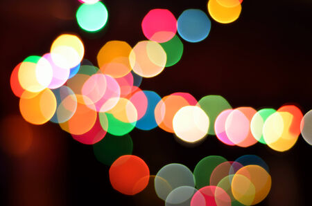 Glowing Christmas lights background