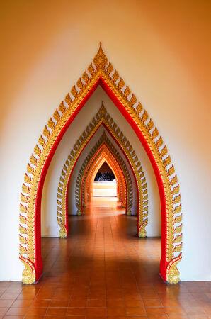 Walkway in pavilion of Buddhist