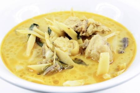 Thai Food, Curry Chicken with Bamboo Shoots