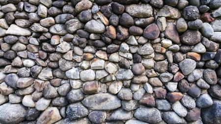 Wet round stone rock pebble texture floor