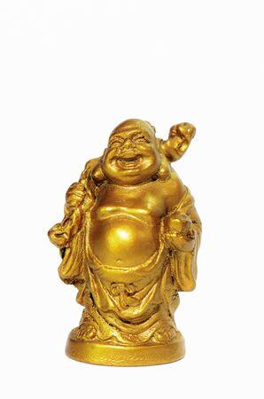 Buddha statues a white background Stock Photo