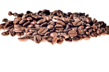 Brown coffee beans, close-up of coffee beans for background