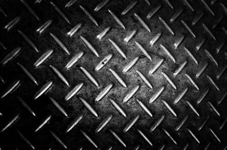 ironworks: Background of metal diamond plate in silver color