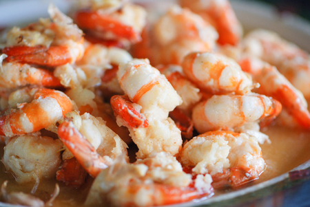Fried shrimp in a Butter Sauce with Garlic pepper