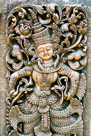 sculptures based  traditional Buddhist and Hindu motifs