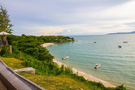 Beautiful Gulf of Thailand sea view in Pattaya Beach, Chon Buri, thailand