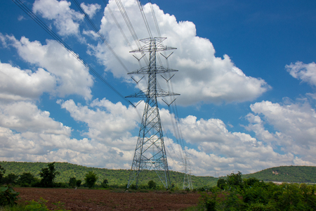 radio tower with in nature & clear sky and good Stock Photo