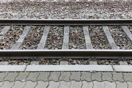 den Bahnübergang siehe Seite. Standard-Bild