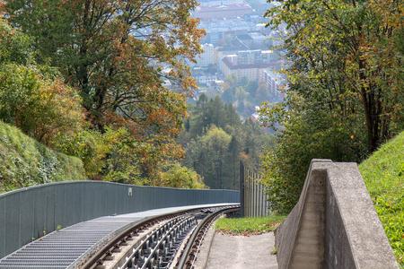 Hungerburgbahn with rail wagon funicular in Innsbruck, Austria Reklamní fotografie