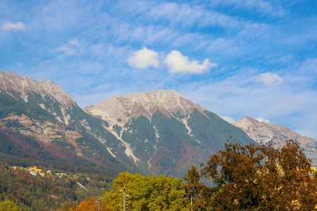 A view along of the nature of Innsbruck at Austria