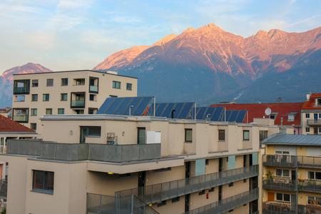 Innsbruck, Austria - Oct 18, 2018 : A view along of the city of Innsbruck at Austria Redakční
